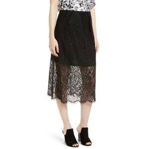 Lewit Black Lace Midi Skirt Skirt
